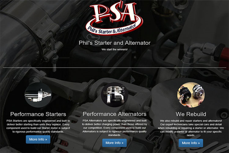 PSA Racing website design hosting and development montreal quebec
