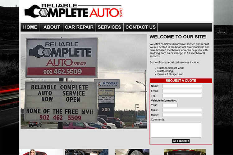 Complete Reliable Auto website design hosting and development Montreal montreal quebec